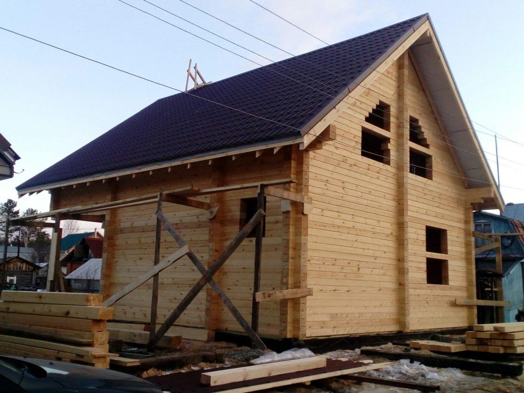 Дом из профилированного бруса в п. Медный